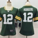 Women's Packers Aaron Rodgers #12 Football Player Jersey Green