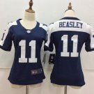 Dallas Cowboys 11th Cole Beasley Women's Football Jersey Navy Blue