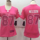 Women's Packers Jordy Nelson #87 Football Player Jersey Pink