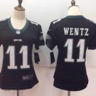 Women's Eagles Carson Wentz #11 Black Football Player Jersey