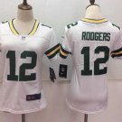 Women's Green Bay Packers #12 Rodgers Player Jersey White