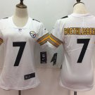 Women's Pittsburgh Steelers #7 Roethlisberger Football Player Jersey White