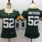 Green Bay Packers 52th Matthews Women's Player Football Jersey Green