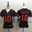 Women's 49ers Jimmy Garoppolo #10 Black Football Jersey Limited