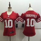 49ers Garoppolo #10 Women's Red Football Player Jersey
