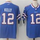 Buffalo Bills #12 Jim Kelly Men's Royal Football Player Jersey
