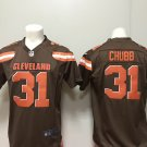 Cleveland Browns 31 Nick Chubb Men's Limited Game Jersey Brown