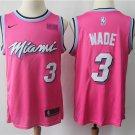 Miami Heat 3 Dwyane Wade Men's Swingman Jersey Earned edition