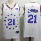 Philadelphia 76ers 21 Joel Embiid Earned Edition Swingman Jersey