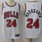 Men's Chicago Bulls Markkanen #24 Replica Jersey Association