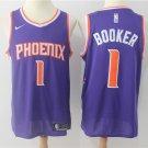 Men's Suns #1 Devin Booker Stitched Basketball Jersey Purple