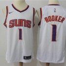 Men's Phoenix Suns Booker #1 White Swingman Jersey