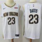 Men's Pelicans #23 Davis Stitched Basketball Jersey White
