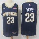 Men's Pelicans Anthony Davis #23 Black Basketball Jersey