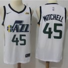 Men's Utah Jazz Donovan Mitchell #45 White Swingman Jersey