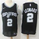 Men's Spurs 2 Kawhi Leonard Icon Swingman Jersey Black