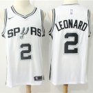 Men's Spurs Kawhi Leonard #2 Swingman Jersey White