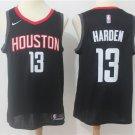 Men's Rockets 13 James Harden Black Swingman Jersey Statement