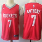 Houston Rockets 7 Carmelo Anthony Red Basketball Jersey