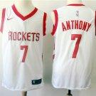Men's Rockets Anthony #7 White Basketball Jersey