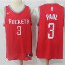 Houston Rockets 3 Chris Paul Red Men's Basketball Jersey