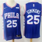 Philadelphia 76ers 25 Ben Simmons Men's Icon Swingman Jersey Blue