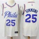 Men's 76ers Simmons #25 Basketball Replica Jersey