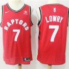 Toronto Raptors 7 Kyle Lowry Men's Basketball Jersey Red