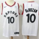 Toronto Raptors #10 DeRozan Men's White Stitched Basketball Jersey