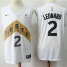 Men's Raptors #2 Leonard City Swingman Jersey White