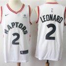 Toronto Raptors #2 Leonard Men's White Stitched Basketball Jersey