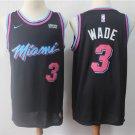 Men's Heat Dwyane Wade #3 City Edition Swingman Jersey Black