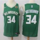 Milwaukee Bucks Antetokounmpo #34 Men's Swingman Jersey Icon Edition