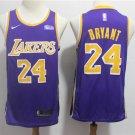 Men's LA Lakers #24 Bryant Statement Swingman Jersey Purple