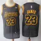 Men's Lakers JAMES #23 City Swingman Jersey Black