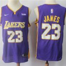 Men's Lakers #23 James Purple Swingman Jersey Statement