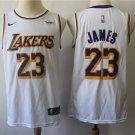 LA Lakers JAMES #23 Men's White Swingman Jersey