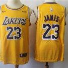 James #23 LA Lakers Men's Gold Icon Swingman Jersey