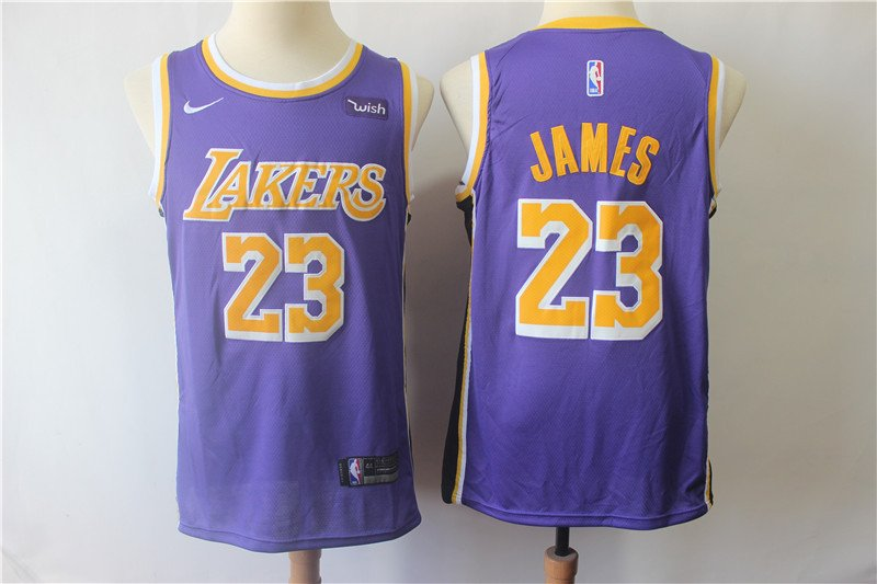 Men's Lakers #23 Jame Swingman Jersey Statement