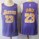 Men's Lakers #23 Jame Swingman Jersey Statement