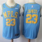 Men's Lakers 23 JAMES Blue Basketball Replica jersey