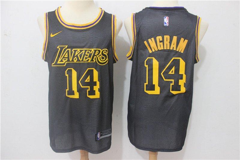 Men's Lakers 14 Brandon Ingram City Swingman Jersey Black
