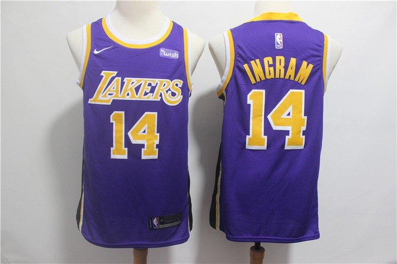 Men's Lakers #14 Brandon Ingram Swingman Jersey Statement