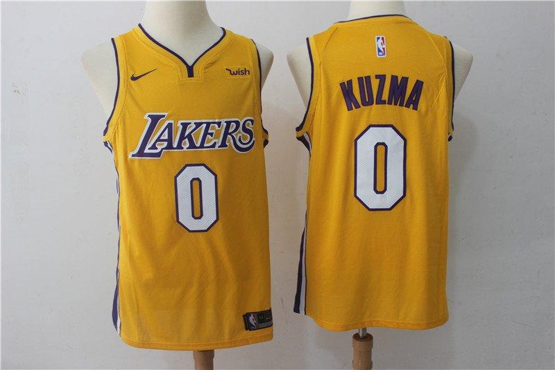 Men's Los Angeles Lakers 2 Kyle Kuzma Basketball Replica Jersey Icon