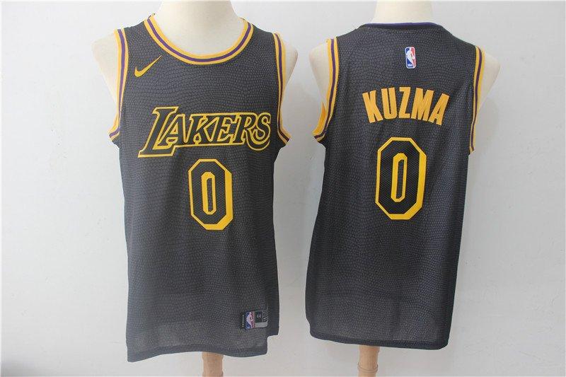 Men's Lakers KUZMA #0 Basketball Replica Jersey Black