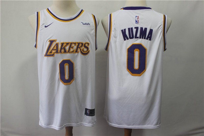 LA Lakers Kyle Kuzma #0 Men's White Swingman Jersey