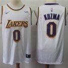 LA Lakers Kyle Kuzma #0 Men's White Swingman Jersey