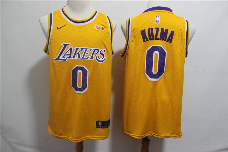 Kyle Kuzma #0 LA Lakers Men's Gold Icon Swingman Jersey