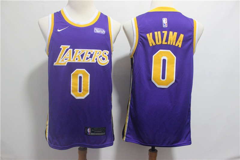 Men's Lakers #0 Kyle Kuzma Swingman Jersey Statement