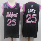 Men's Timberwolves Derrick Rose #25 City Swingman Jersey